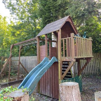 rear garden childrens play house